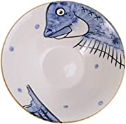 Yardwe Japanese Style Ramen Bowls Ceramic Noodle Soup Porridge Bowl Cartoon Porcelain Salad Bowl Rice Tayo Pas
