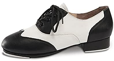 Applause Black and White Spectator Tap Shoe (2MED)