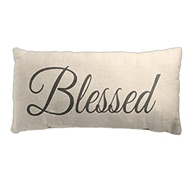 Country House Collection 12  x 6  Cotton  Blessed  Throw Pillow