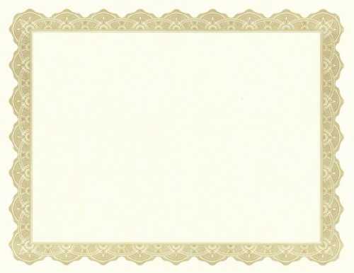 Geographics Optima Gold Award Certificates with Foil Seals, 8.5