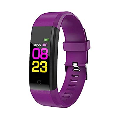 Dyyicun12 Smart Bracelet Waterproof Color Screen Heart Rate sleep Monitor Wristband Sports Purple Estimated Price £3.91 -