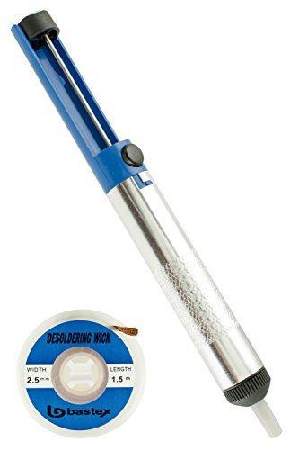 - Bastex Desoldering Wick and Pump Vacuum Solder Removal Tool & Solder Braid (2.5mm Width, 1.5m Length)