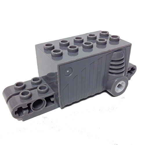 Lego Parts: Pullback Motor 9 x 4 x 2 2/3 (Dark Bluish Gray) Jungle Train Set