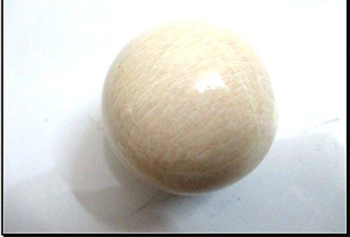 Jet Moonstone 45 - 50 mm Ball Sphere Gemstone A+ Hand Carved Crystal Altar Healing Devotional Focus Spiritual Chakra Cleansing Metaphysical (Sphere Quartz Crystal Pendulum)