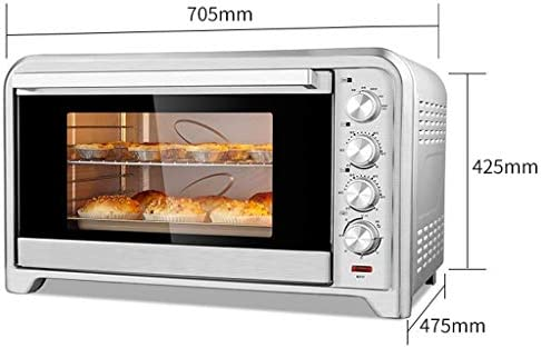 NIHAOA Barbecue Micro-Ondes Extra Large Convection Grille-Pain Countertop, Comprend Le Plat de Cuisson, Griller Rack & Grillage Rack, en Acier Inoxydable