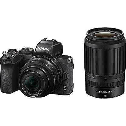 Nikon Z50 Mirroless Camera Body with NIKKOR Z DX 16-50mm f/3.5-6.3 VR & NIKKOR Z DX 50-250mm f/4.5-6.3 VR Lens 1
