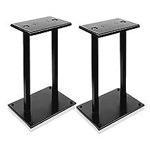 PYLE-PRO PSTND18 Universal Heavy-Duty Double Support Steel Bookshelf Speaker Stands