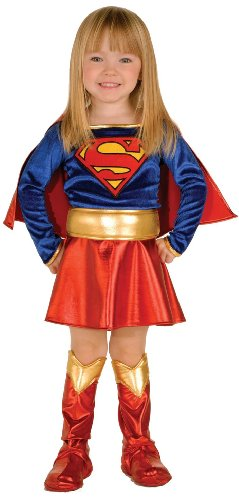 [Super DC Heroes Supergirl Toddler Costume, (Size 2-4)] (Twins Day Costumes)