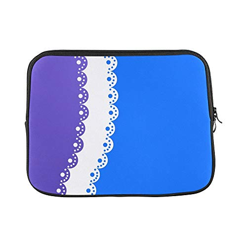 Design Custom Paper Scrapbooking Form Blue White Sleeve Soft Laptop Case Bag Pouch Skin for MacBook Air 11