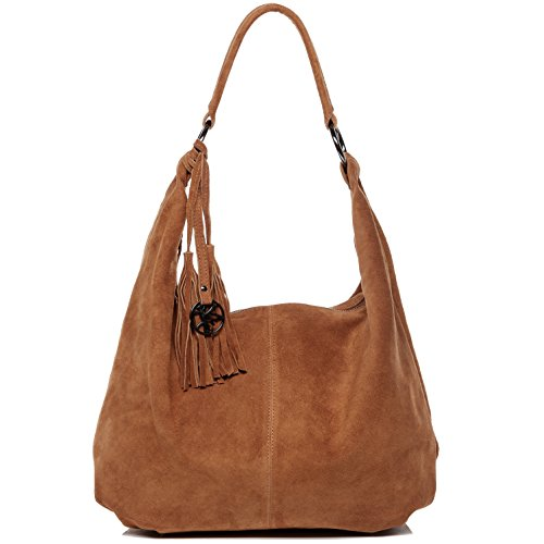 - BACCINI real suede leather hobo bag SELINA Large shoulder bag cross-body bag long shoulder strap leather bag women´s bag