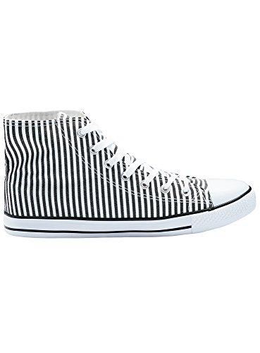 Bianco Oodji Donna 1029s Tela Sneakers Di Alte Cotone Ultra In wn8qnPz5fx