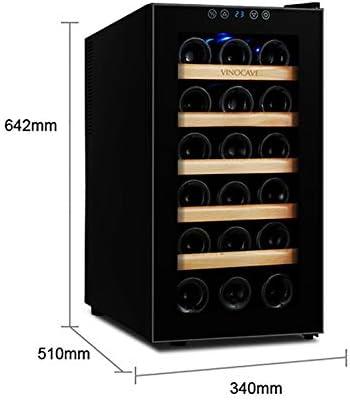 CLING Refrigerador de Vino de 48 litros Compresor de 18 Botellas champán Encimera Bodegas Independientes Descongelación automática Diseño de Vidrio de Espejo Refrigerador de Vino para Bar en casa
