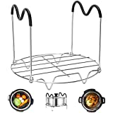Redting Steamer Rack Trivet for Instant Pot with Heat Resistant Silicon Handles-Pressure Cooker Steamer Rack 6 QT 8 QT Pressure Cookers Pot accessories