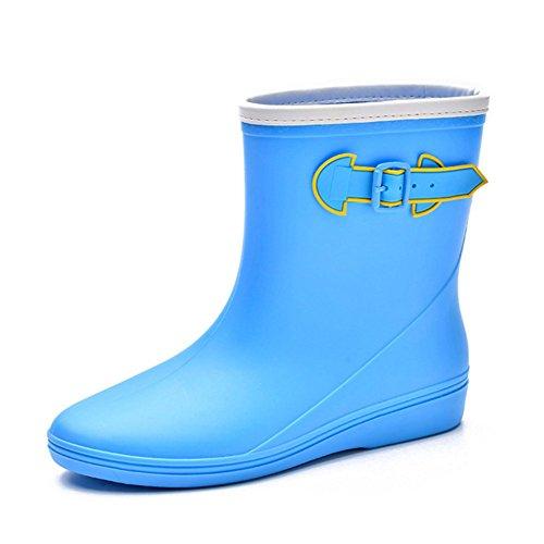 Short Boots Women's FANGDA Rain Rubber Blue IdPxHqw6