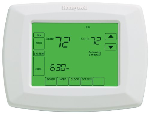"Honeywell RTH8500D 7-Day Touchscreen Programmable Thermostat, ""C"" Wire Required"