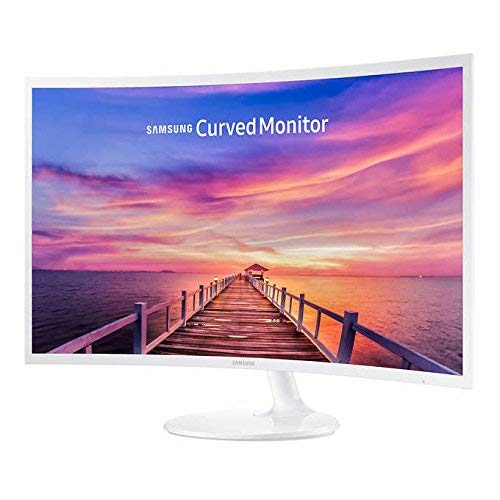 Samsung 27in White Super-Slim Curved 1080p LED Monitor, 1920 x 1080 Resolution (Renewed)