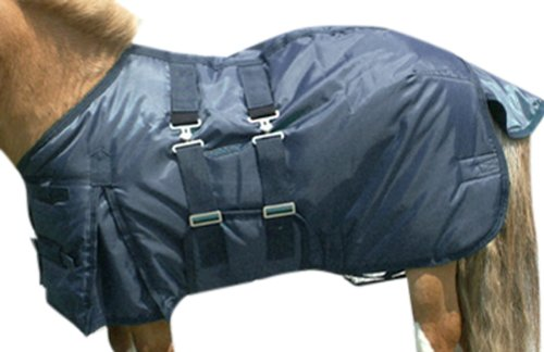 Intrepid International Miniature Horse Turnout Blanket, 43-Inch, Navy