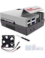 MakerFun Retro Gaming Nes4Pi Case voor Raspberry Pi 4 Model B, Raspberry Pi 4 Case met Fan Raspberry Pi Koelventilator Raspberry Pi Heatsinks voor Raspberry Pi 4 Model B