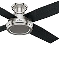 Hunter Fan 52in Contemporary Low Profile Ceiling Fan with Remote Control (Renewed)