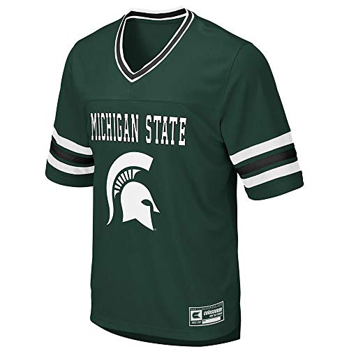 40f7a171c Colosseum Mens Michigan State Spartans Football Jersey - XL