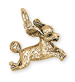 Poodle Charm Jewelry 14k Gold Poodle Charms And Poodle Jewelry PD23-CG