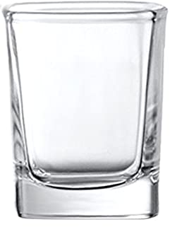 Circleware Eastside Clear Heavy Base Glass Shot Glass Set, 1.7 Ounce, Set of 6, Limited Edition Glassware Drinkware Barware Whiskey Scotch Liquor Drinking Glasses Beverage cups 42739