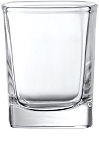 Circleware 42786 Take Square Shot Glasses, Set of 6, 2.3 Ounce, Clear, Limited Edition Glassware Whiskey Drinking Cups