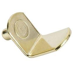 Shelf Support, Bracket-Style, Brass, 5mm (25)