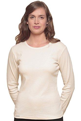 Extra Long Sleeve Organic Tee (Acadia Women's Organic Cotton Fair Trade Long Sleeve - Natural M)
