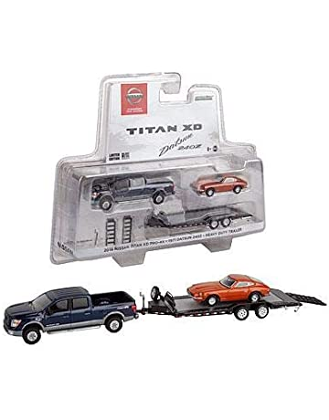Official Nissan Limited Edition 1:64 Scale Titan XD Pro-4X with Hauler and