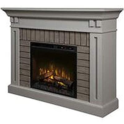 DIMPLEX Madison Electric Fireplace Mantel with Logs Stone Grey/1500