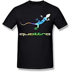 Men's Audi Quattro Gecko Logo Fashion T-Shirt
