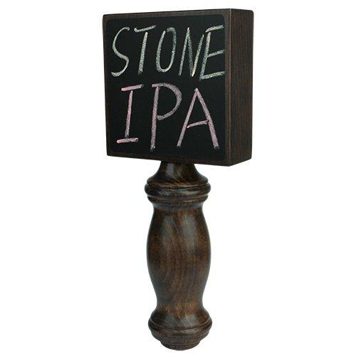 """Home Bar Beer Tap (Vintage Kegerator Beer Tap Handles, Wooden Beer Keg Tap Handle With Chalkboard for Kegerator, Home Bar, Homebrew, 7.7"""" Tall X 3.2"""" Wide X 1.14"""" Thick)"""