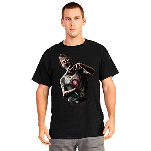 Morphsuits Digital Dudz Beating Heart Zombie Shirt, Black/Multi Print, XX-Large
