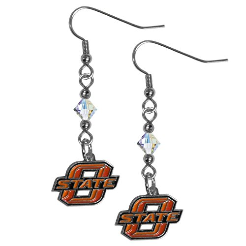 Siskiyou NCAA Oklahoma State Cowboys Women's Crystal Dangle Earrings