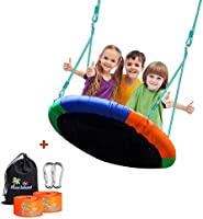 Children's Tree Swing with Hanging Ropes- 700lbs Tree Swing Hanging Kit- Easy Installation with Adjustable Hanging...