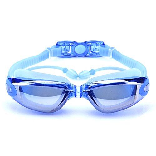 de del de antibalas los Caja Casquillo Impermeables de Nada natación Pieza Que Sola Color de los Paquete natación una LCSHAN Gafas de Anteojos Nada de Que Adultos Hombres Azul Plata La la Hombres el qxHtwY