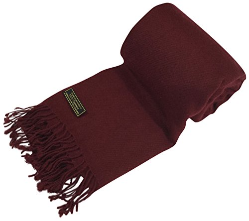 Maroon High Grade 100% Cashmere Shawl Scarf Wrap Hand Made in Nepal NEW (Handmade Silk 100% Scarf)