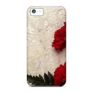 Anti-scratch And Shatterproof Carnation Decor Phone Case For Iphone 5c/ High Quality Tpu Case