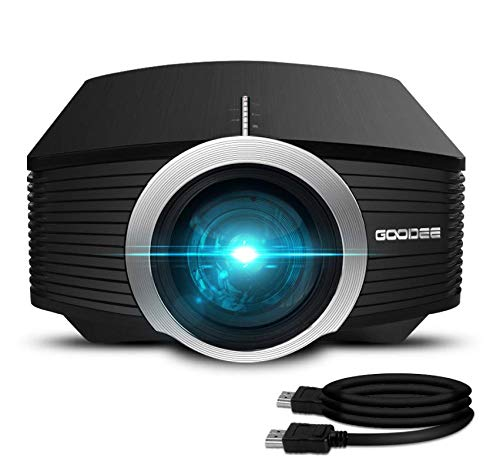Video Projector, GooDee Mini Projector 2019 (Upgraded Version) 2800 lumens LED Portable Projector with HDMI, Movie Projector with 130″ Compatible with Fire TV Stick, VGA, USB for Home Theater Movie