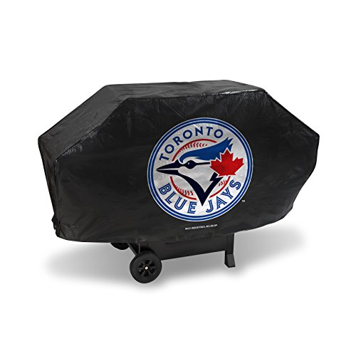 (Rico Industries MLB Toronto Blue Jays Deluxe Grill Cover, Black, 68 x 21 x 35)
