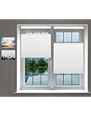 """Cordless Cellular Shades, Top Down Bottom up Blackout Light Filter, Cellular Honeycomb Window Blinds, Blackout White, 58"""" W x 48"""" H, Fashion Simple Elegant Shade, Custom Sized 16""""~80"""""""