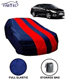 Fabtec Red & Blue Car Body Cover for Hyundai Verna 2018 with Storage Bag Combo!