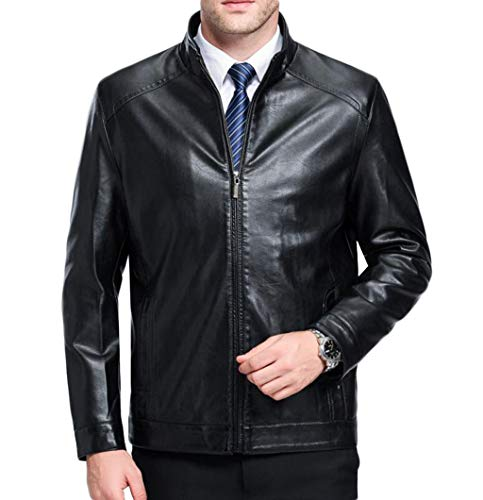 And Xl Trend Jacket Size Black color Casual Youth Autumn Slim Spring Zjexjj Leather Men's qFcXOX