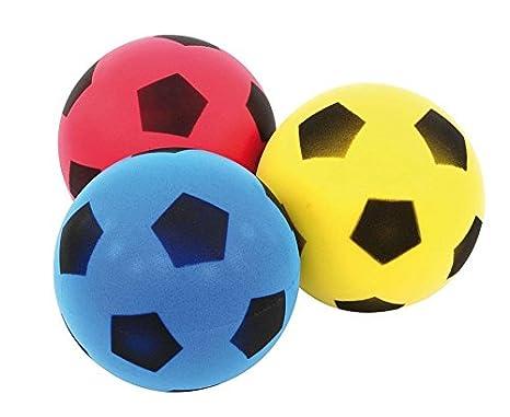 Betzold  Kinder-Softball, Soft-Bälle, Kinder-Ball aus Schaumstoff, Schaumstoffball, besonders weich und griffig, gelb, blau, rot, im Netz, unbeschichtet, Ø 12 cm,3 Stück Vinco Vinco34139