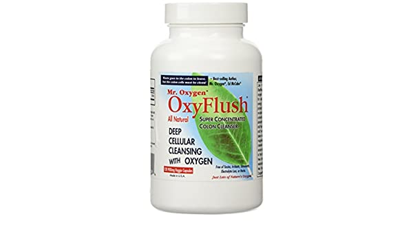 Mr. Oxygen OxyFlush Concentrated Colon Cleanser NEW 120 Caps by Mr. Oxygen: Amazon.es: Salud y cuidado personal