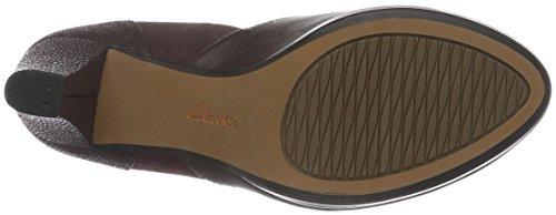 Clarks Chorus Gia, Zapatos de Tacón para Mujer Morado (Aubergine Leather)