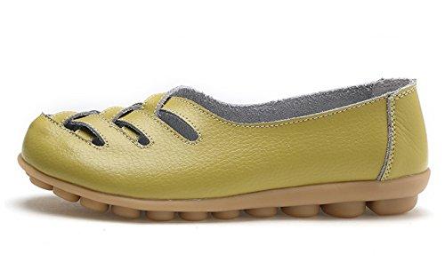Venuscelia Donna Comfort Walking Casual Flat Fannullone Melone / Giallastro