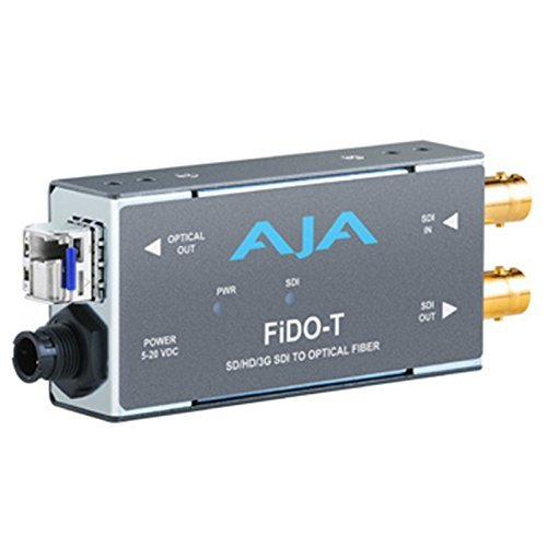 AJA FiDO-T Single-channel SD/HD/3G SDI to Optical Fiber Converter with Looping SD/HD/3G SDI Output ()