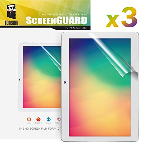 TabSuit Dragon Touch K10 Screen Protector Ultra-Clear of High Definition (HD)-3 Pack for Dragon Touch K10 10.1 Tablet